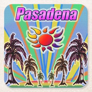 Posavasos Cuadrado De Papel Práctico de costa del amor del verano de Pasadena