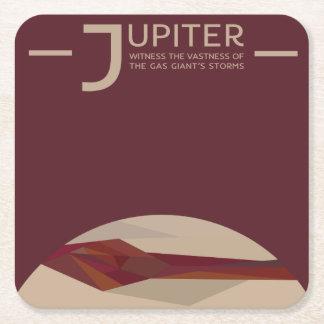 Posavasos Cuadrado De Papel Práctico de costa del espacio de Júpiter