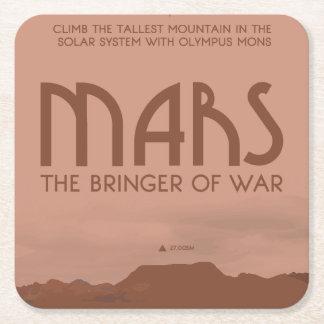 Posavasos Cuadrado De Papel Práctico de costa del espacio de Marte