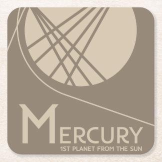 Posavasos Cuadrado De Papel Práctico de costa del espacio de Mercury