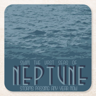 Posavasos Cuadrado De Papel Práctico de costa del espacio de Neptuno