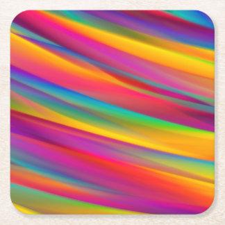Posavasos Cuadrado De Papel Prácticos de costa coloridos del papel cuadrado