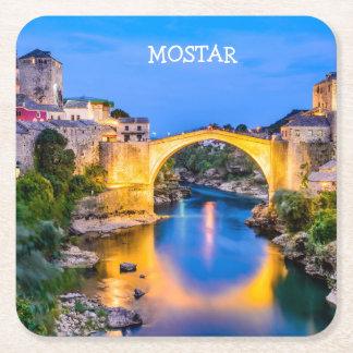 Posavasos Cuadrado De Papel Prácticos de costa cuadrados de encargo Mostar