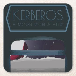 Posavasos Cuadrado De Papel Prácticos de costa del espacio del Kerberos