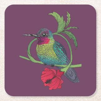 Posavasos Cuadrado De Papel Prácticos de costa del ilustracion del pájaro de