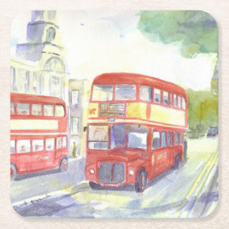 Posavasos Cuadrado De Papel Prácticos de costa del papel del autobús del AEC