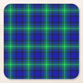 Posavasos Cuadrado De Papel Primera tela escocesa de Fibonacci