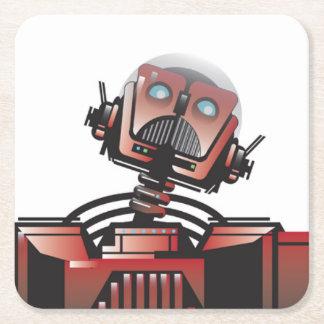 Posavasos Cuadrado De Papel Robbie el práctico de costa del robot