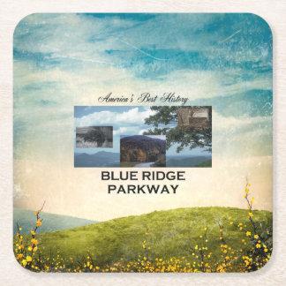 Posavasos Cuadrado De Papel Ruta verde azul de ABH Ridge