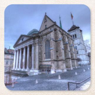 Posavasos Cuadrado De Papel Saint Pierre de la catedral, Peter, Ginebra, Suiza
