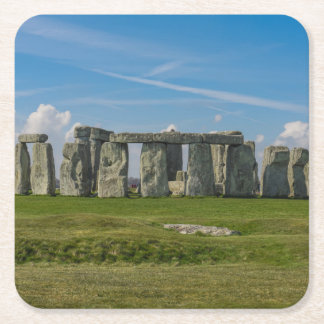 Posavasos Cuadrado De Papel Stonehenge en Inglaterra