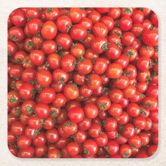 Posavasos Cuadrado De Papel Tomate Coster