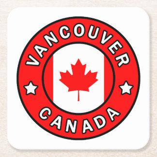 Posavasos Cuadrado De Papel Vancouver Canadá