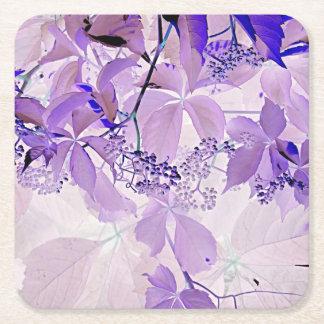 Posavasos Cuadrado De Papel Vid púrpura delicada