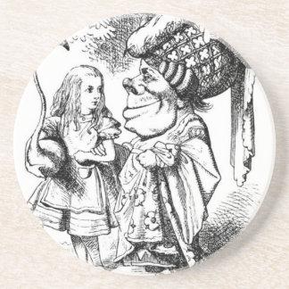 Posavasos De Arenisca Alicia y la reina roja