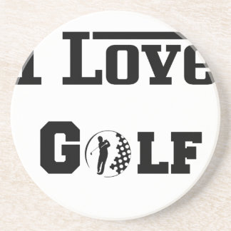 Posavasos De Arenisca Amo el golf 2