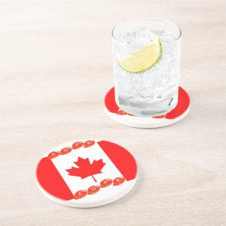 Posavasos De Arenisca AMOR CANADÁ del práctico de costa de la bebida de