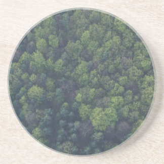 Posavasos De Arenisca Árboles verdes
