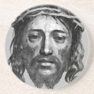 Posavasos De Arenisca Arte del cristiano de las Mesías del Th del