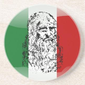 Posavasos De Arenisca Bandera brillante de Italia