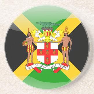 Posavasos De Arenisca Bandera brillante jamaicana