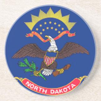 Posavasos De Arenisca Bandera de Dakota del Norte
