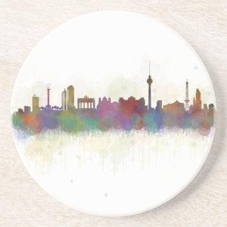 Posavasos De Arenisca Berlin city Germany. Deutsche Skyline art v2