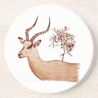 Posavasos De Arenisca Bosquejo animal del dibujo de la fauna del