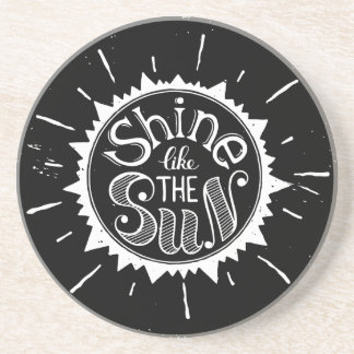 Posavasos De Arenisca Brillo como The Sun