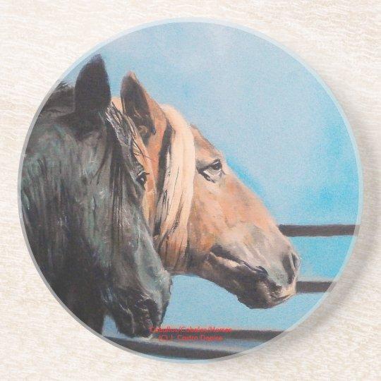 Posavasos De Arenisca Caballos/Cabalos/Horses