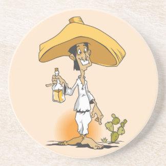 Posavasos De Arenisca Cactus y Tequila