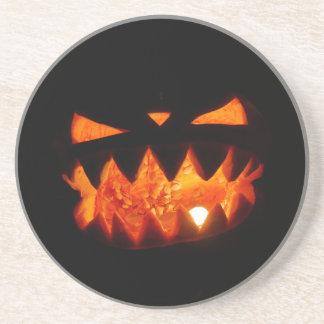 Posavasos De Arenisca Calabaza de Halloween