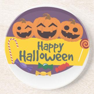 Posavasos De Arenisca Calabaza del feliz Halloween