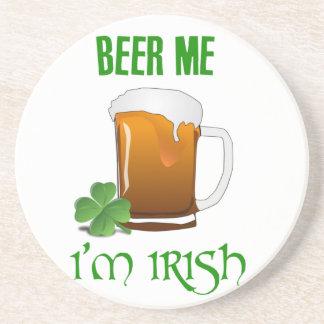 Posavasos De Arenisca Cerveza yo soy irlandés