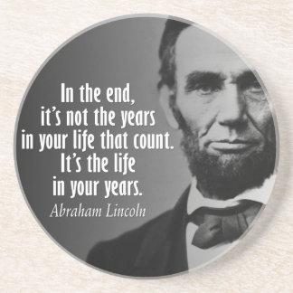 Posavasos De Arenisca Cita de Abe Lincoln el vida