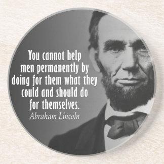 Posavasos De Arenisca Cita de Abe Lincoln en los derechos