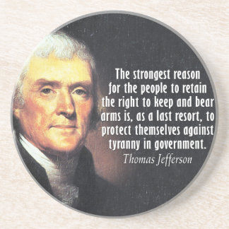 Posavasos De Arenisca Cita de Thomas Jefferson a la derecha de llevar
