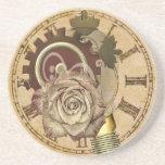 Posavasos De Arenisca Collage del reloj del vintage