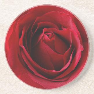 Posavasos De Arenisca color de rosa de color rojo oscuro