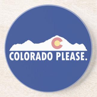 Posavasos De Arenisca Colorado por favor