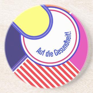 Posavasos De Arenisca Colores intrépidos, diseño gráfico de la multa