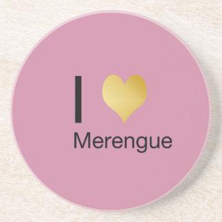 Posavasos De Arenisca Corazón juguetónamente elegante Merengue de I