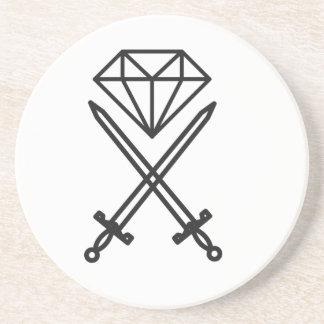 Posavasos De Arenisca Corte del diamante