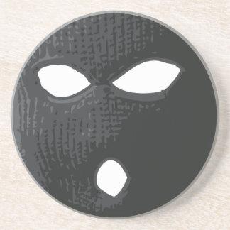 Posavasos De Arenisca criminal-máscara
