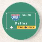 Posavasos De Arenisca Dallas, señal de tráfico de TX