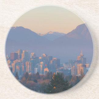 Posavasos De Arenisca De Vancouver paisaje urbano céntrico A.C. en el