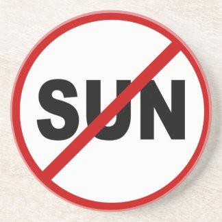 Posavasos De Arenisca Declaración permitida Sun de la muestra del odio