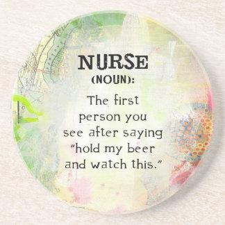 Posavasos De Arenisca Definición de una enfermera