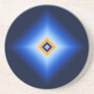 Posavasos De Arenisca Diamante del azul y del moreno