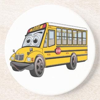 Posavasos De Arenisca Dibujo animado 2017 del autobús escolar